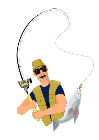 lucky man: Fisherman caught a fish