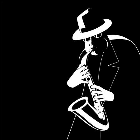 african sax: Jazzman in the dark