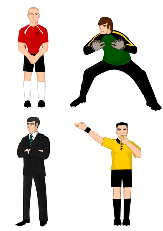 Collection of main football characters
