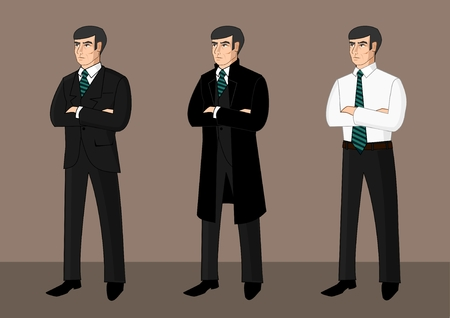 Collection of cartoon businessmen