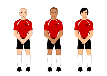 Collection of international football players
