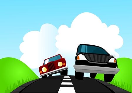 On The Road Illustration