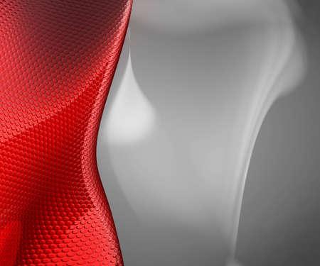 Sfondo rosso 3D presentazione Archivio Fotografico