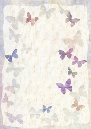 weft: Background with space for text or image with butterflies Stock Photo