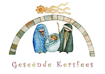 pesebre: ilustraci�n para Navidad �pice pesebre final estrella cometa con t�tulo en ingl�s