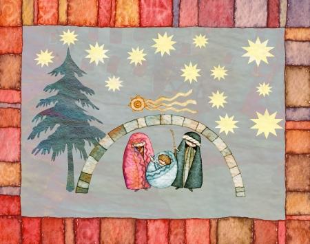 nascita di gesu: illustrazione per il Natale