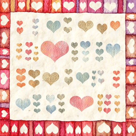 Background with hearts Stock Photo - 8046417