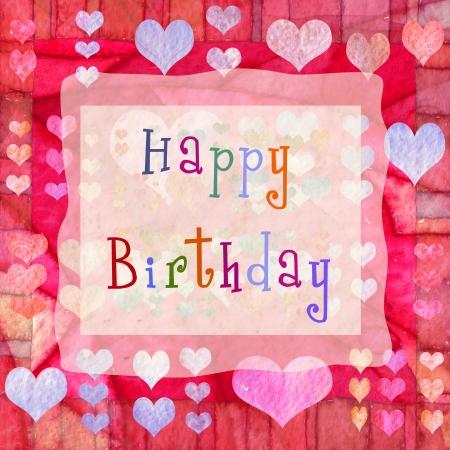 Fondo de feliz cumpleaños con corazones  Foto de archivo - 8108160
