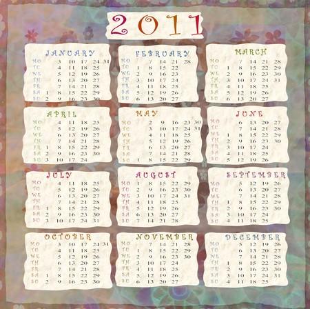 extremity: calendar 2011
