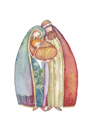 saviour: Christmas illustration