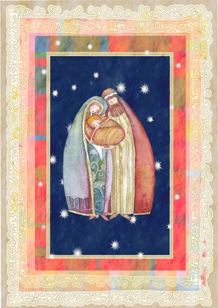 Christmas: Jesus Christ , Joseph, Mary Stock Photo - 8485994