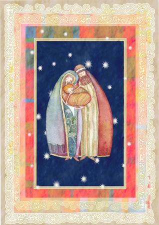 joseph: Christmas: Jesus Christ , Joseph, Mary Stock Photo