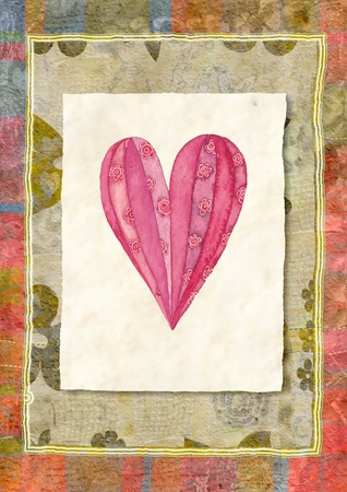 Heart, greeting card photo