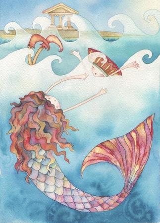 Ilustración de la historia de la sirenita