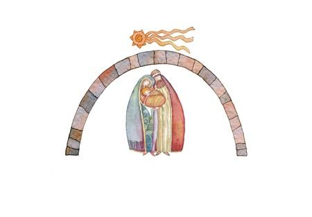 christmas nativity: Christmas nativity scene: Jesus Christ , Joseph, Mary