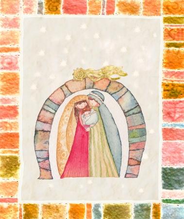 christmas nativity: Christmas nativity scene  Jesus Christ , Joseph, Mary