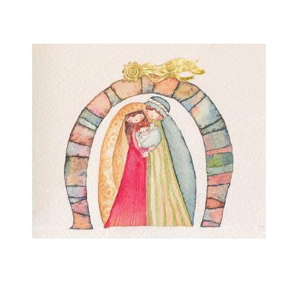 holy family: Christmas nativity scene  Jesus Christ , Joseph, Mary
