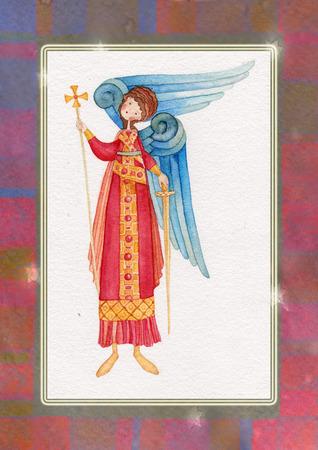angel de la guarda: Ilustraci�n de �ngel de la Guarda