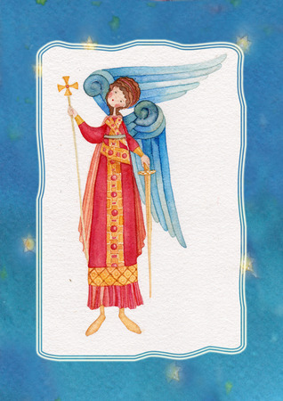 iconography: Illustration of Guardian Angel