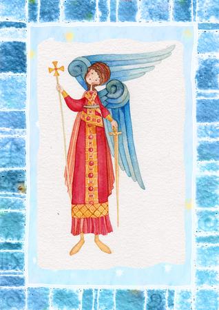 iconography: Illustration of Guardian Angel
