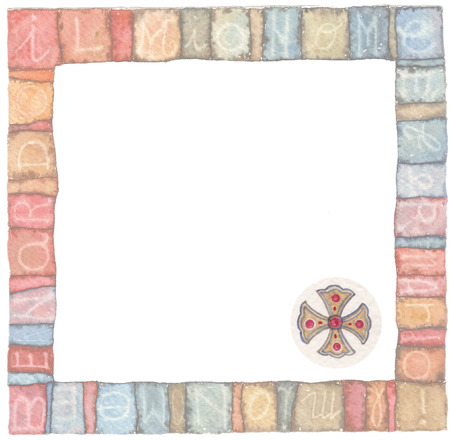 traditional background: Holy Cross : logo idea for the church, religious organizations, christian associations, baptism, invitation ,and others Stock Photo