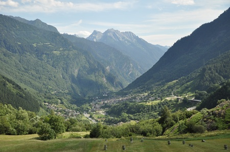 Village in green canyon between mountains. Stock Photo - 10605752