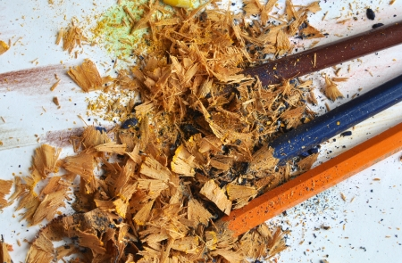 tailings: Sharp three color pencil stumps with lot of waist