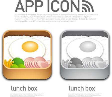 Lunch box shaped App Icon