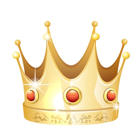 king crown: Gold crown icon Illustration