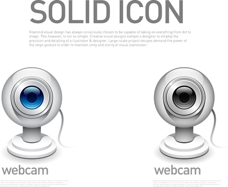 Webcam icon Vectores