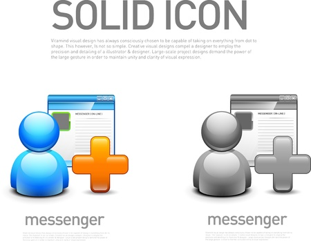 instant messaging: Messenger icon