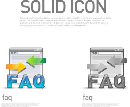 faq icon: FAQ icono