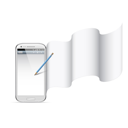 dimensionally: smart phone illustration