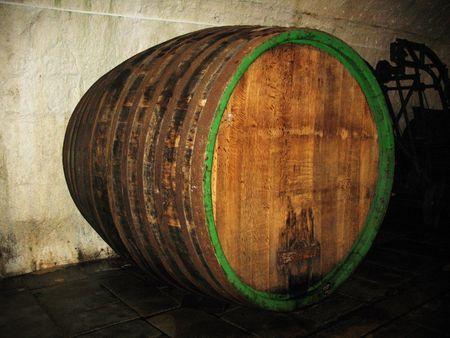 Biggest barrel in brewery storage Plsen Czech photo
