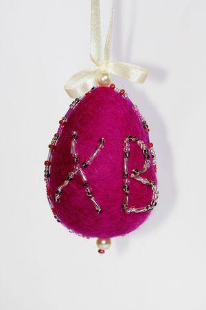 Handmade of wallow felt egg symbol of easter Stock Photo - 5105251