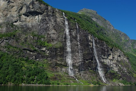 Mountain river with waterfalls in Norway, Geiranger Stock Photo - 7701208