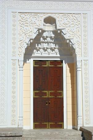 The door of Turkish Bath Pavilion. Tsarskoye Selo (Pushkin), St. Petersburg, Russia.