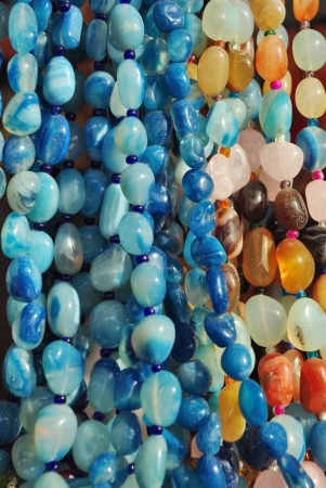 bead jewelry: Texture from the different semi precious stone beads
