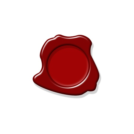 Wax seal with room for text isolated in white background photo