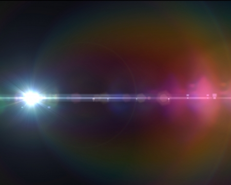 Lens flare effect in  space made with ae cs5
