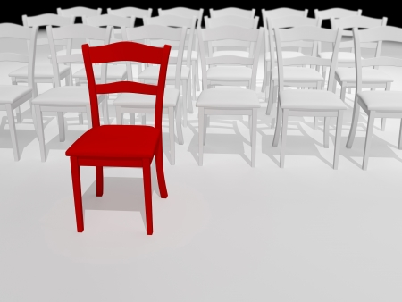 Abstract illustration of red chair