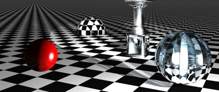 Checkered  art composition  made in 3d software photo