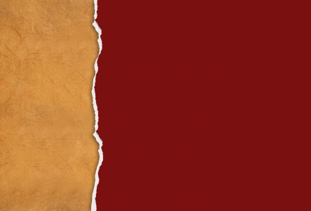 Vertical ripped paper for background made in 2d software