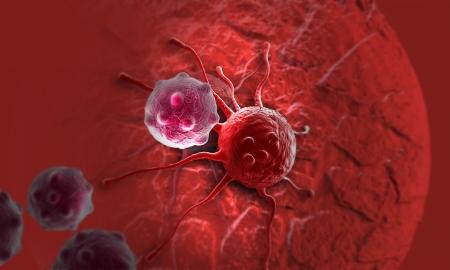 canc�rologie: cellule canc�reuse fait dans un logiciel 3D