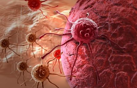 cancer cell made in 3d software 写真素材