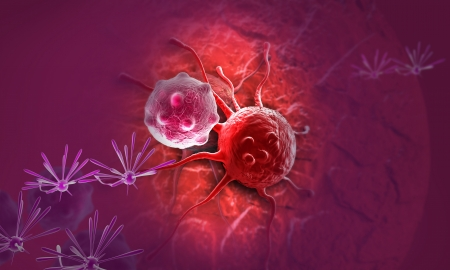 cancer cell made in 3d software photo