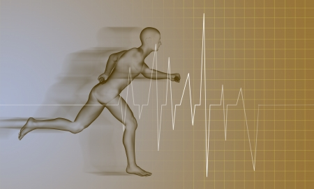 3d rendered anatomy illustration of a running man Stock Illustration - 20281444