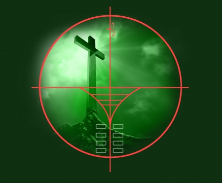 sneak: viewfinder of  sniper rifle