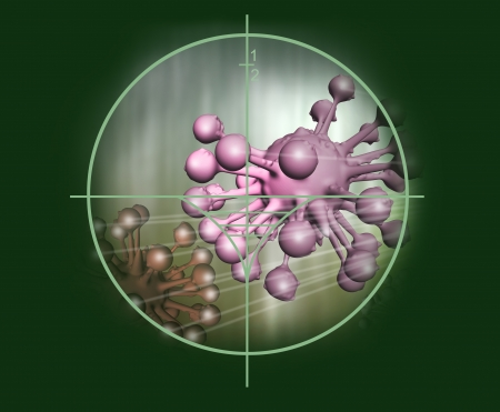 micro organism: cloud of micro organism