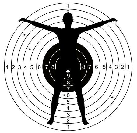shooting target: Schieten doel met gaten doorboord door kogels
